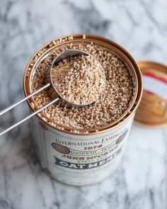 toasted steel-cut oats.