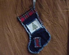 Western Rag Style Christmas Stocking #1 by RonsRelaxation on Etsy https://www.etsy.com/listing/163522523/western-rag-style-christmas-stocking-1