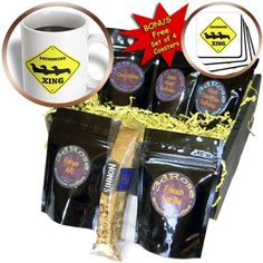 EvaDane  Signs  Dachshund crossing  Coffee Gift Baskets  Coffee Gift Basket cgb_149843_1 *** Click the image for detailed description