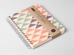 2014 AUGUST to 2015 AUGUST Weekly Planner Calendar Diary Day Spiral A5 Triangle Geometric Summer - 2014 August - 2015 August