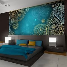 50 Best Bedroom Interior Design Ideas With Luxury Touch is part of Luxury bedroom design - A number of interior designers have had successes from previous designs that capture the plain white room into something that […] Bedroom Wardrobe, Bedroom Wall, Bedroom Furniture, Bed Room, Diy Furniture, Teal Bedroom Decor, Silver Bedroom, Tapestry Bedroom, Bedroom Décor