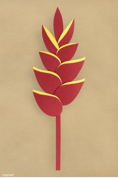 64 Best Paper Craft Tropical Flowers Images Flowers Heliconia