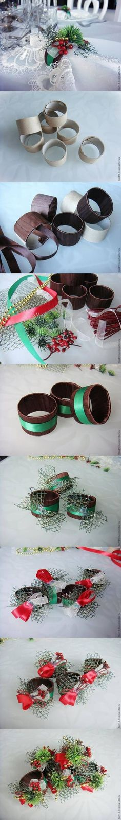DIY Toilet Roll Custom Napkin Rings DIY Projects /...
