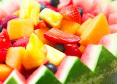 Fruit is full of antioxidants, vitamins and fiber. If you want to take this on a road trip - pack fruit in small, individual plastic containers and keep in a cooler.