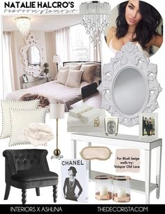 Get the look: Natalie Halcro angelic glamour bedroom — The Decorista
