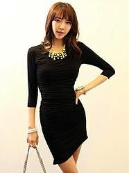 Vestido negro, elegante y simple! Mangas largas.  Lo puedes adquirir en: http://emcccarlocka.wix.com/fashioneurope#!product/prd1/1210836491/181660806-vestido-negro