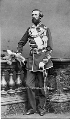 This tall drink o' water is  King Oscar II of Sweden and Norway as a young man.  (1829-1907) Picture looks 1860 or so.