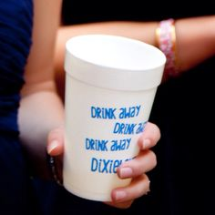 Keepin in real on the wedding day. Drink away, drink away, drink away Dixieland!