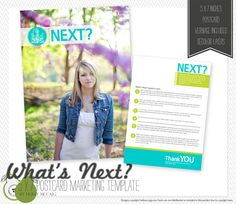 """What's Next?"" Postcard Template by Holly"