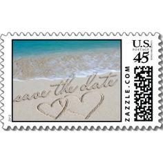 Save the Date Wedding Invitation Postage Stamp <3