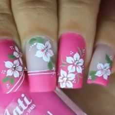62+ Trendy Nails Disney Designs Art Tutorials Pink Nail Art, Flower Nail Art, Nail Art Diy, Nail Shapes Square, Really Cute Nails, Red Nail Designs, Trendy Nail Art, Rainbow Nails, Classy Nails
