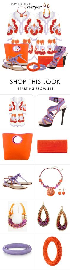 """DAY 2 NITE by DaNewMeh"" by thchosn ❤ liked on Polyvore featuring Alice McCall, Christian Louboutin, Kate Spade, Judith Leiber, RED Valentino, Souksy, 1928, VOJD Studios, DayToNight and romper"