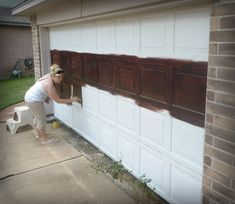 Superior Diy Faux Wooden Garage Door Using Gel Wood Stain (adheres To Surfaces Other  Than Wood!