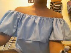 Como hacer blusa campesina - YouTube
