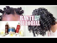 BOMB Heatless Bantu Knot Out w/ Inahsi Naturals (Detailed Tutorial & Review) | Aseamae Natural - YouTube