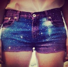 Galaxy shorts I KNOW HOW TO MAKE THESE!!!!!!!!!!!!!!!!!!!!!
