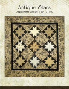 Antique Stars Jo Morton Toile Civil War Star Pattern Small Quilt Civil War Small Quilt pattern
