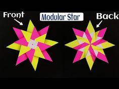"""How to make Beautiful Easy and Simple Paper""""Modular Star""""(Diwali/Christmas /Eid decoration)- Origami - YouTube"""