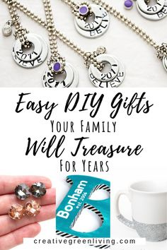 Make easy DIY gifts that your family actually wants! Lots of ideas for DIY gifts for sisters, sister-in-law, mothers, girlfriends or bridesmaids. These gifts are easy to make and don't cost very much to boot! Anyone is sure to treasure these handmade gifts for Christmas, birthdays or any other holiday. #DIYchristmas #DIYgifts #homemadegifts Christmas Gifts To Make, Handmade Christmas Gifts, Easy Diy Gifts, Homemade Gifts, Diy Gemstone Earrings, Cinnamon Dolce Latte, How To Make Diy, Parent Gifts, Diy For Girls