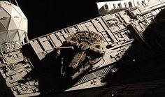 FM 1/144 Millennium Falcon on the Bridge of Imperial Star Destroyer by YATA