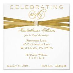 elegant birthday party invitations zazzle Birthday Invitations the Template Design 2019 75th Birthday Parties, Elegant Birthday Party, Fifty Birthday, 85th Birthday, Fiftieth Birthday, Birthday Ideas, Surprise Birthday, Birthday Gifts, Birthday Celebration