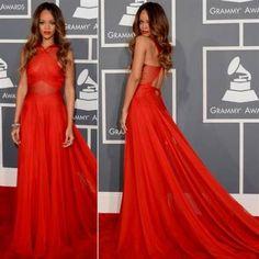 Awesome red carpet dresses rihanna 2017-2018