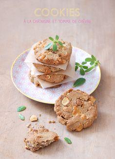 Cookies châtaigne et chèvre