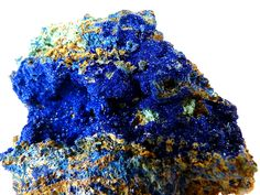 AZURITE (Copper Carbonate) crystal from M,Cissi, Er Rachidia, Morocco. A large vein of drusy azurite crystals.