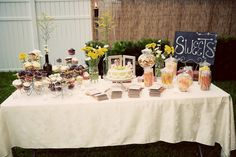 diy backyard wedding table settings | Also, buying flowers wholesale gives you a ton at a cheap price! We ...