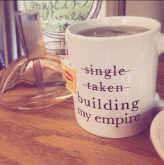 building my empire coffee mug charm and gumption