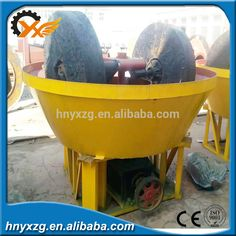 Persistance working sharp design china wet pan mill for gold
