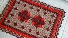 Receitas Círculo - Tapete patchwork em crochê