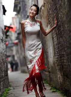 Qipao (Cheongsam) - I like how it's slightly different style from the traditional.