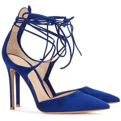 Gianvito Rossi Antonia Blue Suede Pumps (1.340 RON) ❤ liked on Polyvore featuring shoes, pumps, heels, sandals, blue suede shoes, high heeled footwear, suede pumps, pointed toe high heel pumps and suede pointed-toe pumps