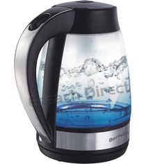 Bertelin Cordless Electric Glass Kettle 1.7L - Blue LED Illuminated - BL1503: Amazon.co.uk: Kitchen & Home Kettle, Electric, Kitchen Appliances, Amp, Amazon, Glass, Blue, Diy Kitchen Appliances, Teapot