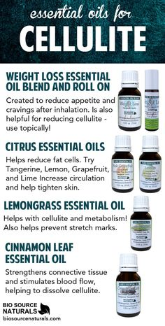 Best essential oils for cellulite and how to use them. DIY essential oil cellulite recipes for massage and bath. Essential Oil Cellulite, Coconut Oil Cellulite, Cellulite Scrub, Cellulite Remedies, Cellulite Workout, Lose Cellulite, Cellulite Exercises, Homemade Essential Oils, Citrus Essential Oil