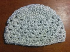 White and Gray baby hat Etsy listing at https://www.etsy.com/listing/456037898/white-and-gray-baby-hat-0-6-months