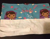 Doc Mc stuffins Crayon Roll Up Holder With White Pouch - Holds 8 Crayons