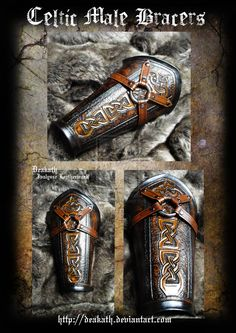 Celtic Male Armor : Bracers by Deakath.deviantart.com on @DeviantArt