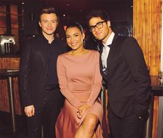 I love them, Darren Criss Chris Colfer and Naya Rivera