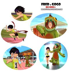 School mascot by Milady666.deviantart.com on @DeviantArt. Fred and Gogo Tomago>>>>> I don't ship this but so cute