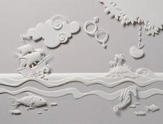 Escultura de Papel incrível por Carlos Meira