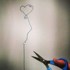 Washi tape wall art. Baloon