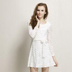 MaxMara Skinny Solid color Lace Dresses