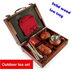 Solid wood tea tray Porcelain yixing purple clay tea cups outdoor travel tea sets gongfu gaiwan set ceramic drinkware-in Coffee & Tea Sets from Home & Garden on Aliexpress.com | Alibaba Group