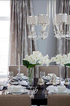 Living Room Design Interior Design Ideas - Home Bunch Dining Room Design, Dining Room Furniture, Interior Design Living Room, Interior Decorating, Dining Rooms, Beautiful Table Settings, Deco Table, Luxury Interior Design, Luxury Homes