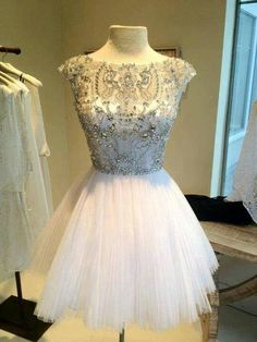 Sparkly white fit-and-flare