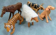 干支 leather animals