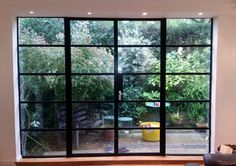 aluminium crittall style windows and doors SW London French Windows, French Doors Patio, Garden Doors, Patio Doors, Crittal Doors, Crittall Windows, Aluminium French Doors, Steel Doors And Windows, Room Doors