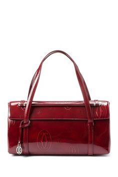 Vintage Cartier Leather Happy Birthday Handbag